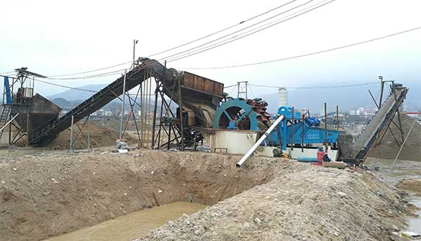 river sand washing plant