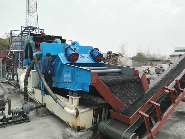 vibration screen sand washing machine