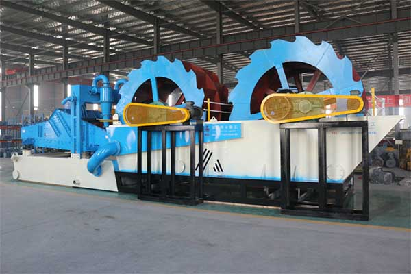 double wheel sand washing machine