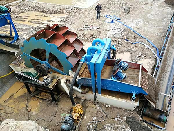 how does Wheel sand washing machine work?