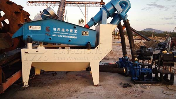 fine sand recovery machine followed sand washing machine