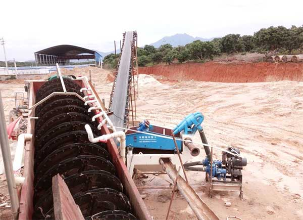 Bauxite washing plant in Vietnam