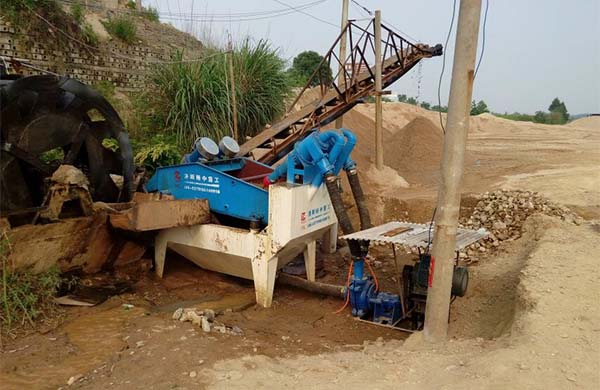 fine sand recycling machine design