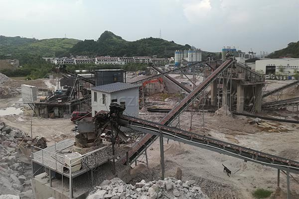 The sand washing production line in Indonesia