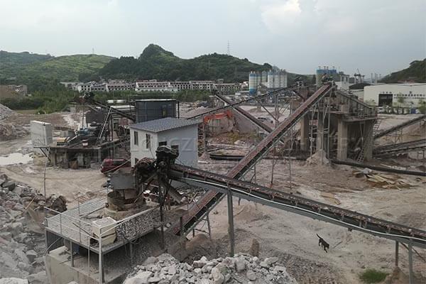 The sandwashing production line inIndonesia