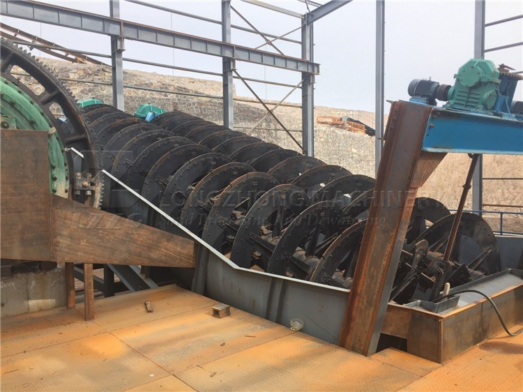 screw sea sand washing machine