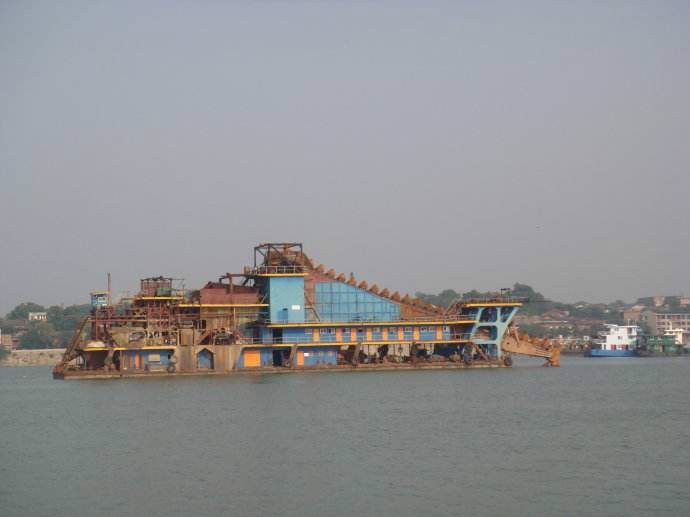 dredger river sand sea sand