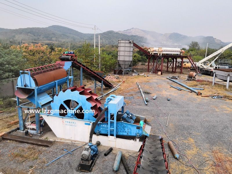sand washing plant with fine sand recovery and tail water purification in China
