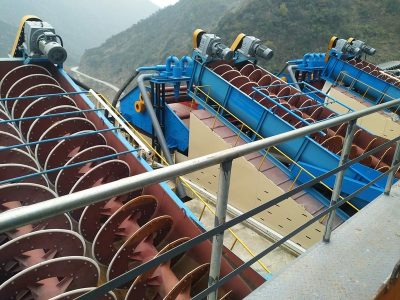 Spiral copper ore washing machine