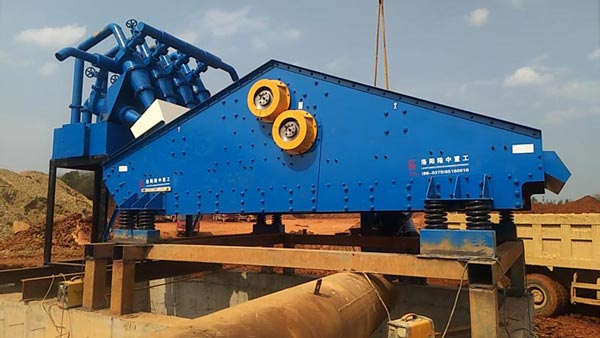 dewatering screen for frac sand