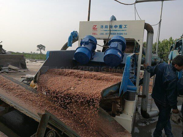 sand dewatering vibrating screen machine - lzzg