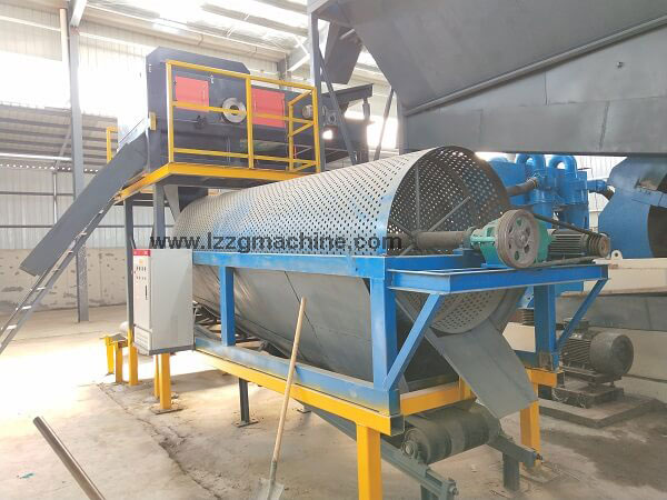 trommel separator for coal washing