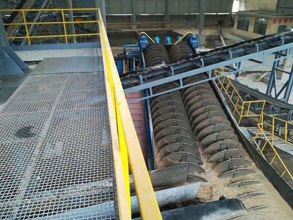screw classifier for ore washing