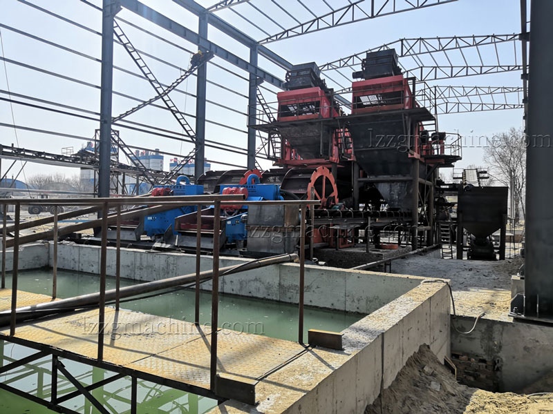 sand washing plant with wastewater treatment system
