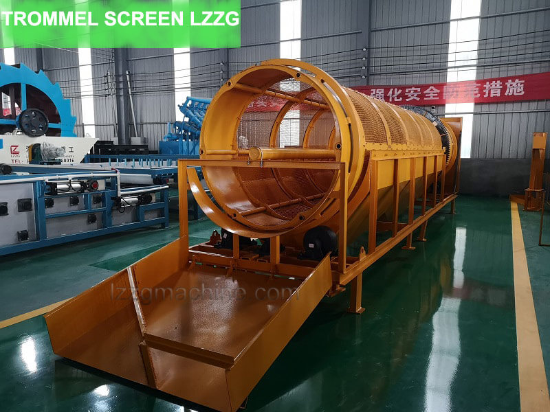 trommel screen for solid-waste processing
