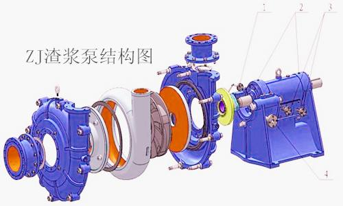vacuum mud pump structure