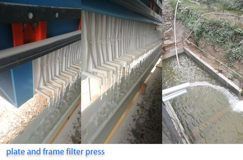 clean water from filter press