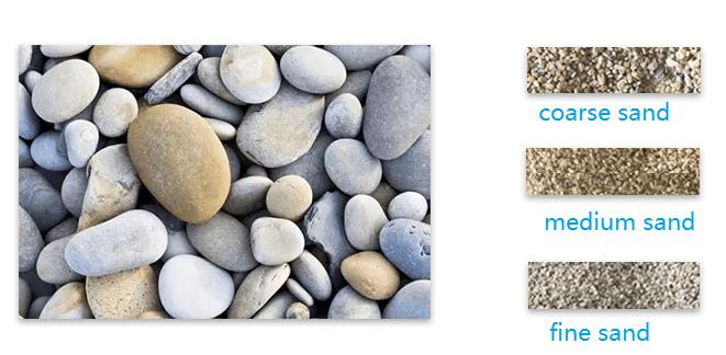 pebble sand production