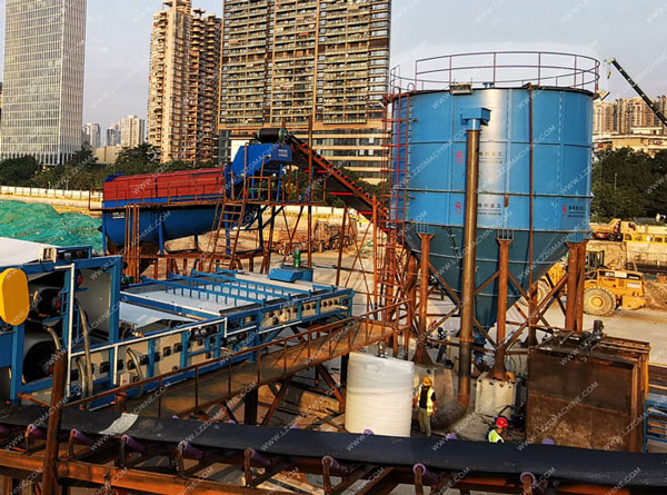 LZZG sludge thickener in mud cleaning system