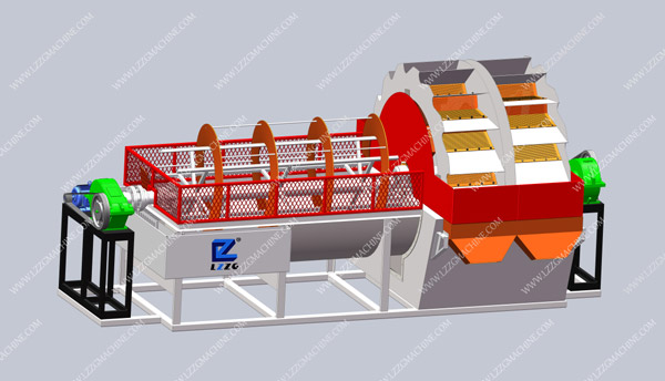 spiral sand washer with bucket classifier