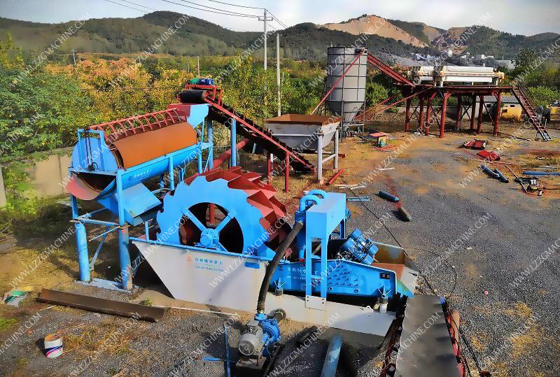 drum rotating screen used in sand washing plant