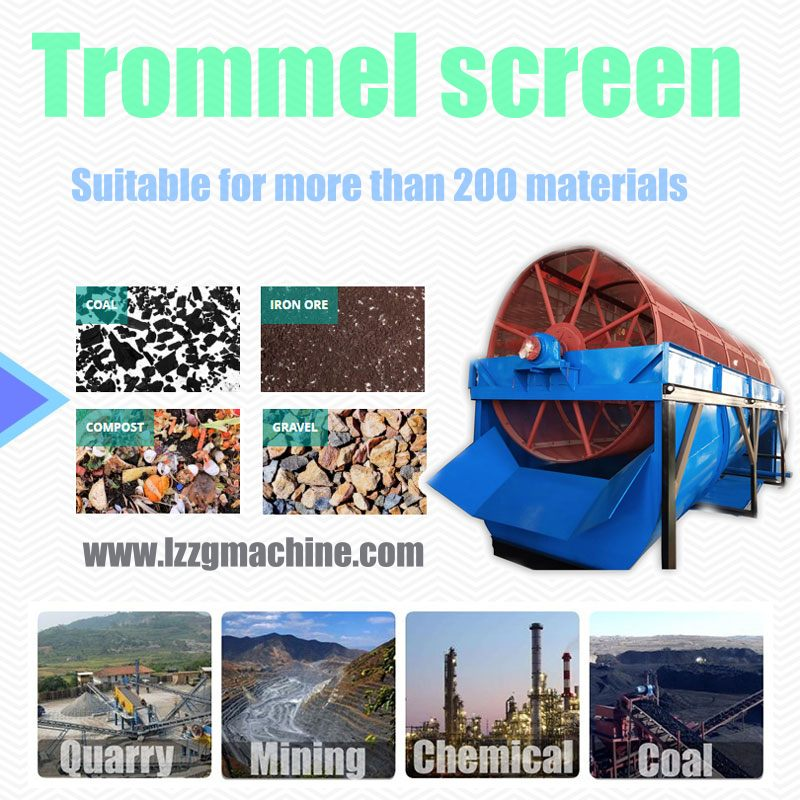 trommel screening plant