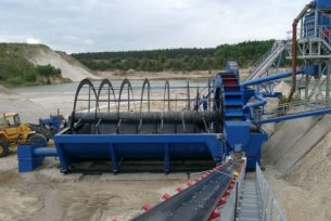 bucket wheel dewatering machine