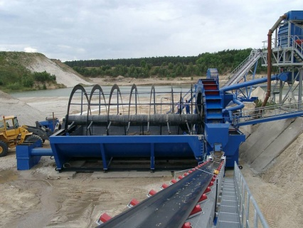 fine sand screw washer with bucket sand washer