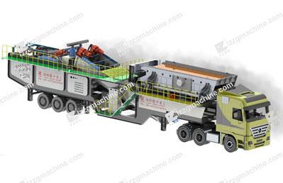 mobile sand washing plant