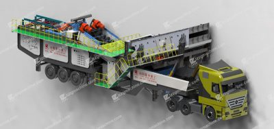 Portable aggregate wash plant