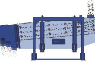 frac sand swing screen machine