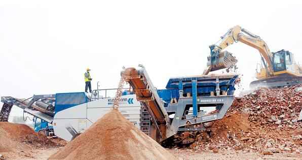 Construction waste recycling sand making equipment
