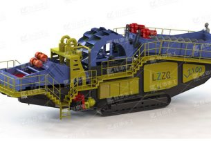 Track-mounted mobile sand washing plant