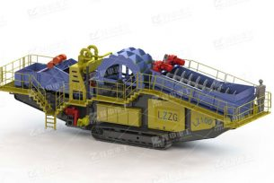 Track-mounted sand washing & dewatering plant