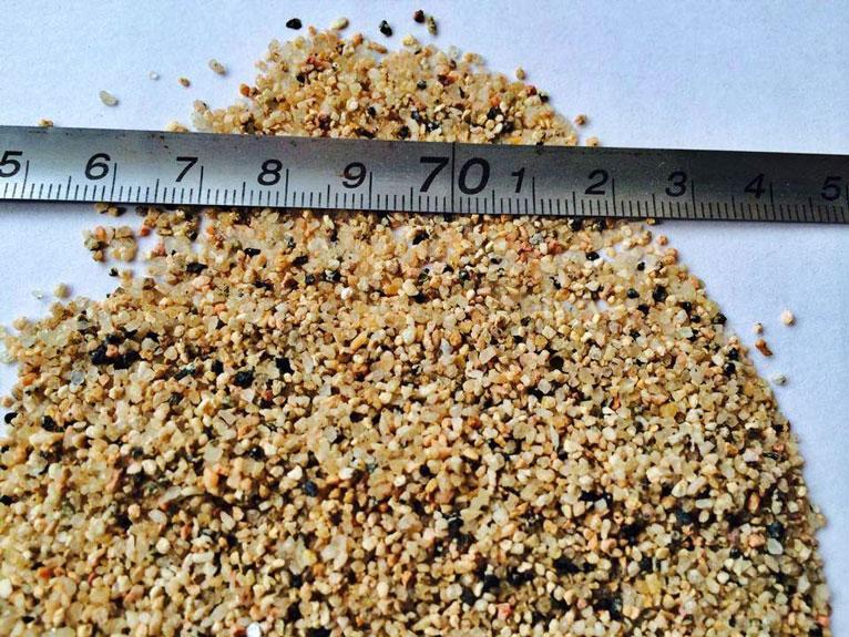 coarse sand size