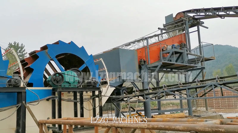 circular vibrating screen in sand washing plant