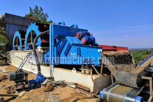bucket sand washer in sand washing plant