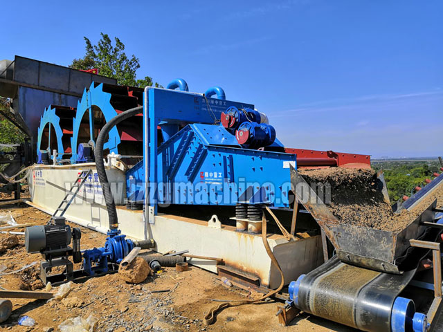 linear vibrating screen in sand washing plant