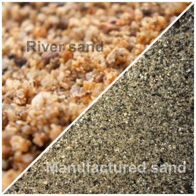 manufactured sand and river sand